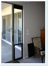 sliding glass pet door